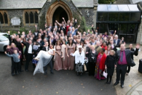 group wedding pic blurred